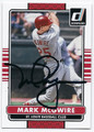 MARK McGWIRE ST LOUIS CARDINALS AUTOGRAPHED BASEBALL CARD #100716B
