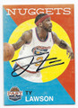 TY LAWSON AUTOGRAPHED ROOKIE BASKETBALL CARD #100716C