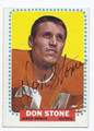 DON STONE DENVER BRONCOS AUTOGRAPHED VINTAGE FOOTBALL CARD #101016D