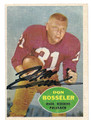 DON BOSSELER WASHINGTON REDSKINS AUTOGRAPHED VINTAGE FOOTBALL CARD #101116E