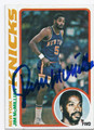 JIMMcMILLIAN NEW YORK KNICKS AUTOGRAPHED VINTAGE BASKETBALL CARD #101216A