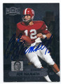 JOE NAMATH ALABAMA CRIMSON TIDE AUTOGRAPHED FOOTBALL CARD #101716B