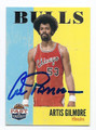 ARTIS GILMORE CHICAGO BULLS AUTOGRAPHED BASKETBALL CARD #101716C