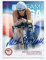 MELISSA STOCKWELL OLYMPIC PARATRIATHALON AUTOGRAPHED CARD #101716D