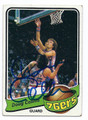 DOUG COLLINS PHILADELPHIA 76ers AUTOGRAPHED VINTAGE BASKETBALL CARD #101816C