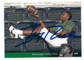 JERRY RICE MISSISSIPPI VALLEY STATE UNIVERSITY AUTOGRAPHED FOOTBALL CARD #101816D