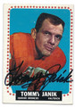 TOMMY JANIK DENVER BRONCOS AUTOGRAPHED VINTAGE ROOKIE FOOTBALL CARD #101916B