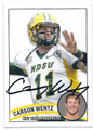 CARSON WENTZ NORTH DAKOTA STATE UNIVERSITY BISON'S AUTOGRAPHED ROOKIE FOOTBALL CARD #102116D