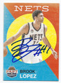 BROOK LOPEZ BROOKLYN NETS AUTOGRAPHED BASKETBALL CARD #102116e