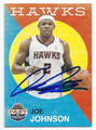 JOE JOHNSON ATLANTA HAWKS AUTOGRAPHED BASKETBALL CARD #102216F