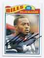WILLIS McGAHEE BUFFALO BILLS AUTOGRAPHED FOOTBALL CARD #110216C