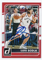 LUIS SCOLA TORONTO RAPTORS AUTOGRAPHED BASKETBALL CARD #110216D