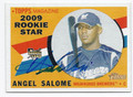 ANGEL SALOME MILWAUKEE BREWERS AUTOGRAPHED ROOKIE BASEBALL CARD #110516D