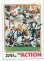 WALTER PAYTON CHICAGO BEARS AUTOGRAPHED VINTAGE FOOTBALL CARD #110716E