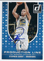 STEPHEN CURRY GOLDEN STATE WARRIORS AUTOGRAPHED BASKETBALL CARD #110816B
