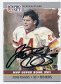 JOHN RIGGINS WASHINGTON REDSKINS AUTOGRAPHED FOOTBALL CARD #110816E