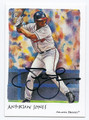 ANDRUW JONES ATLANTA BRAVES AUTOGRAPHED BASEBALL CARD #111016B