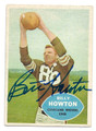BILLY HOWTON CLEVELAND BROWNS AUTOGRAPHED VINTAGE FOOTBALL CARD #111016C