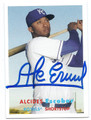 ALCIDES ESCOBAR KANSAS CITY ROYALS AUTOGRAPHED BASEBALL CARD #111016D