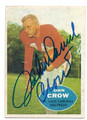 JOHN DAVID CROW ST LOUIS CARDINALS AUTOGRAPHED VINTAGE FOOTBALL CARD #112616A