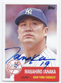 MASAHIRO TANAKA NEW YORK YANKEES AUTOGRAPHED BASEBALL CARD #112716A
