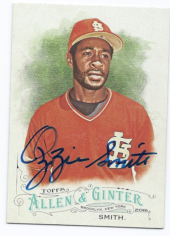 Ozzie Smith St Louis Cardinals Autographed Baseball Card 112916f