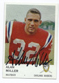 ALAN MILLER OAKLAND RAIDERS AUTOGRAPHED VINTAGE ROOKIE FOOTBALL CARD #113016D