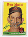 DON MOSSI CLEVELAND INDIANS AUTOGRAPHED VINTAGE BASEBALL CARD #120116B