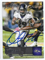 JUSTIN FORSETT BALTIMORE RAVENS AUTOGRAPHED FOOTBALL CARD #120116E