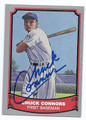 CHUCK CONNORS CHICAGO CUBS AUTOGRAPHED BASEBALL CARD #113016i