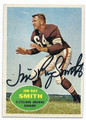 JIM RAY SMITH CLEVELAND BROWNS AUTOGRAPHED VINTAGE FOOTBALL CARD #120216H