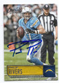 PHILIP RIVERS SAN DIEGO CHARGERS AUTOGRAPHED FOOTBALL CARD #120516B