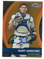 GARY SANCHEZ NEW YORK YANKEES AUTOGRAPHED ROOKIE BASEBALL CARD #120616E
