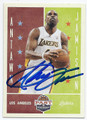 ANTAWN JAMISON LOS ANGELES LAKERS AUTOGRAPHED BASKETBALL CARD #121016A