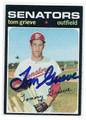 TOM GRIEVE WASHINGTON SENATORS AUTOGRAPHED VINTAGE ROOKIE BASEBALL CARD #122216C