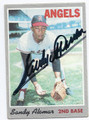 SANDY ALOMAR SR CALIFORNIA ANGELS AUTOGRAPHED VINTAGE BASEBALL CARD #122716E