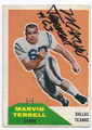 MARVIN TERRELL DALLAS TEXANS AUTOGRAPHED VINTAGE ROOKIE FOOTBALL CARD #122716F