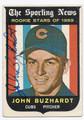 JOHN BUZHARDT CHICAGO CUBS AUTOGRAPHED VINTAGE ROOKIE BASEBALL CARD #122816D