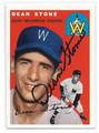 DEAN STONE WASHINGTON SENATORS AUTOGRAPHED BASEBALL CARD #122916B