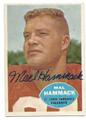 MAL HAMMACK ST LOUIS CARDINALS AUTOGRAPHED VINTAGE FOOTBALL CARD #123116C