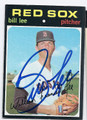 BILL LEE BOSTON RED SOX AUTOGRAPHED VINTAGE BASEBALL CARD #10317C