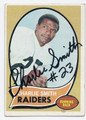CHARLIE SMITH OAKLAND RAIDERS AUTOGRAPHED VINTAGE ROOKIE FOOTBALL CARD #11617B
