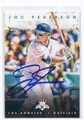 JOC PEDERSON LOS ANGELES DODGERS AUTOGRAPHED BASEBALL CARD #11617C