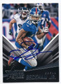 ODELL BECKHAM JR NEW YORK GIANTS AUTOGRAPHED FOOTBALL CARD #12317E