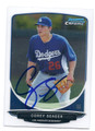 COREY SEAGER LOS ANGELES DODGERS AUTOGRAPHED ROOKIE BASEBALL CARD #12417E