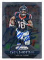 CECIL SHORTS HOUSTON TEXANS AUTOGRAPHED FOOTBALL CARD #12417F