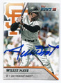 WILLIE MAYS SAN FRANCISCO GIANTS AUTOGRAPHED BASEBALL CARD #12617C