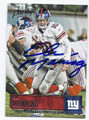 ELI MANNING NEW YORK GIANTS AUTOGRAPHED FOOTBALL CARD #12717B
