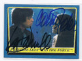 MARK HAMILL & CARRIE FISHER STAR WARS DOUBLE AUTOGRAPHED CARD #12717C