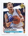 STEPHEN CURRY GOLDEN STATE WARRIORS AUTOGRAPHED BASKETBALL CARD #12717E